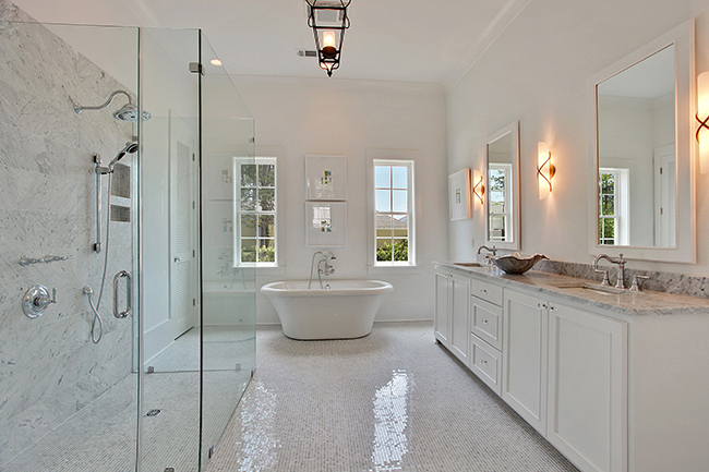 Custom Designed Master Bath by Highland Homes