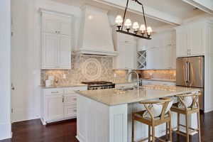 Ornate Tile Backsplash by Highland Homes